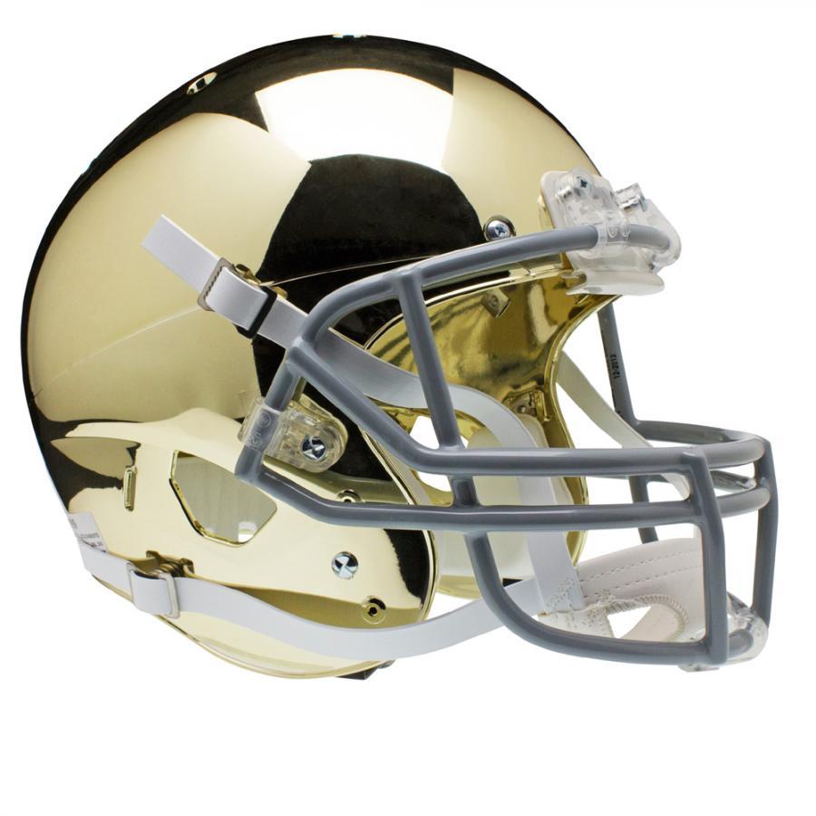 Schutt Sports Notre Dame Fighting Irish NCAA Replica Air XP Full Size Helmet (Alternate Gold Chrome 2)