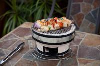 Fire Sense HotSpot Round Table Top Yakatori Charcoal Grill