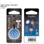 NITE IZE ClipLit Designs - Blue Spiral