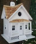 Home Bazaar Beachside Cottage Birdhouse - White