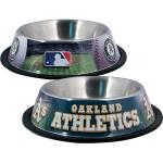Oakland Athletics Stainless Dog Bowl