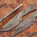 "8"" Damascus Steel Hunter Blank Blade"
