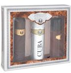 Cuba Gold by Cuba Set-Eau De Toilette Spray 3.3 Oz & Aftershave Spray 3.4 Oz & Deodorant Spray 6.8 Oz for Men
