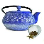 Primula  Pci4340 Blue Cast Iron Teapot 40 Oz