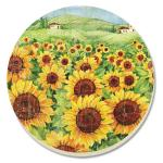 Counter Art Sunflower Field Coasters Set of 4