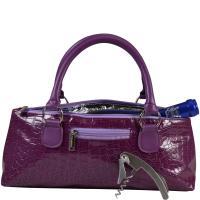 Picnic Gift Wine Clutch Croc Design Purple