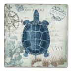 Counter Art Seaside Postcard Single Tumble Tile Coaster
