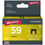 Arrow Fasteners 591189BL Black T59 Insulated Staples For Rg59 Quad & Rg6, 1/4 X 5/16, 300 Pk