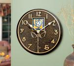Whitehall Amber Dard Hunter Rose in French Bronze - Clock