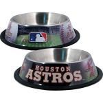 Houston Astros Stainless Dog Bowl