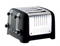 Dualit Traditional Design Chunky Commercial Toaster, Black Soft Touch