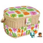Lil Sew & Sew Sewing Basket with 41 Piece Sewing Kit- FS-095