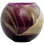 Amethyst Candle Globe by Amethyst Candle Globe The Inside of This 4 Inch Polished Globe is Painted with Wax to Create Swirls of Gold and Rich Hues and