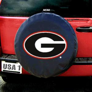 Fremont Die Georgia Bulldogs NCAA Spare Tire Cover (Black)