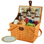 Picnic at Ascot Frisco Traditional American Style Picnic Basket with Service for 2 - Honey, Hamptons