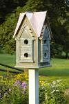 Heartwood Copper Mansion Birdhouse, Bright Copper Roof