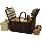 Picnic at Ascot Buckingham Willow Picnic Basket with Service for 4 with Blanket  - London Plaid