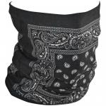 Zan Headgear Motley Fleece Tube - Black Paisley