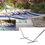 Smart Garden Santorini Premium Reversible Navy Hammock w Stand