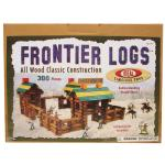 Ideal 300 Piece Frontier Logs Building Set