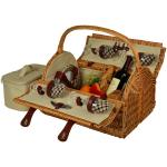 Picnic at Ascot Yorkshire Willow Picnic Basket with Service for 4 - London Plaid