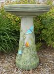 Bird's Choice Clay Butterfly Bird Bath