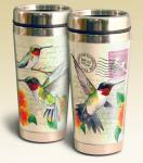 American Expeditions Hummingbird Postcard Steel Travel Mug