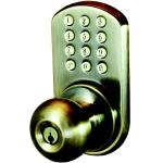 Morning Industry Inc HKK-01AQ Touchpad Electronic Door Knob (antique Brass)
