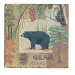 Counter Art Bear Tracks Tumbled Tile Coasters, Set of 4