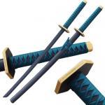 Beautiful (ALL WOOD) Katana Sword - Black Blade