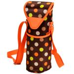 Picnic at Ascot Insulated Wine/Water Bottle Tote with Shoulder Strap -  Julia Dot