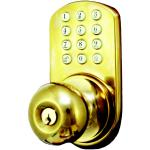 Morning Industry Inc HKK-01P Touchpad Electronic Door Knob (polished Brass)