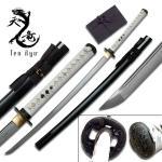 Ten Ryu - Sharp Damascus Steel Katana Sword - White Handle