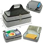 Picnic at Ascot Two Layer Hot/Cold Thermal Food and Casserole Carrier -Houndstooth