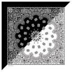 Liberty Mountain Split Paisley Bandana, Black/White