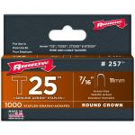 Arrow Fasteners 257 T25 Staple, 7/16, 1,000 Pk