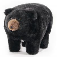 "Plush ""Midnight"" Black Bear Footstool"