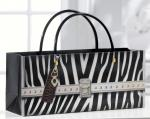 Giftcraft Zebra Print Handbag Design Wine Bottle Gift Bag