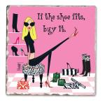 Counter Art If the Shoe Fits Single Tumbled Tile Coaster
