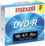 Maxell 635042/635030/638002 4.7 GB DVD-R, 5-Pack