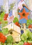 Toland Star-Spangled Birdhouse House