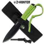 Zombie Hunter Full Tang Fire Starter Hunting Camping Knife With