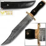 Custom Handmade Full Tang Damascus Steel Alamo Bowie Knife