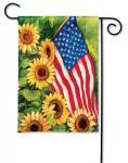Magnet Works American Sunflowers Garden Flag