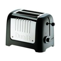 Dualit Black 2 Slice Soft Touch Bread Toaster
