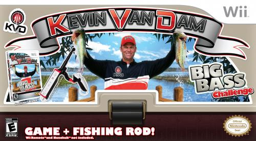 Nintendo wii kevin vandam big bass challenge game with rod for Wii fishing rod