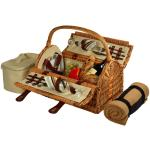 Picnic at Ascot Sussex Willow Picnic Basket with Service for 2 & Blanket - Santa Cruz