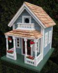 Home Bazaar Newburyport Cottage Birdhouse - Blue