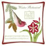 Alice's Cottage Purple Finch Decor Pillow