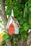 Heartwood Flock of Ages Bird House, White